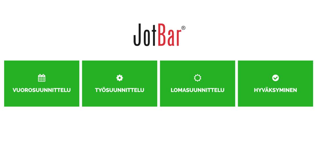 Jotbarin käyttöliittymässä avainasemassa on käytettävyys